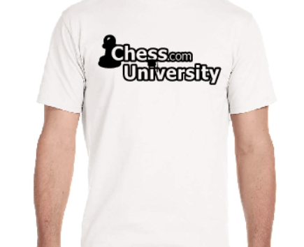 White Chess.com University T-Shirts Now on Sale!