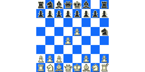 The black knight hangs again in the 1. d4 Nf6 2. g4 gambit