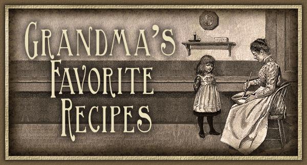 Grandma favorite recipies (BC)