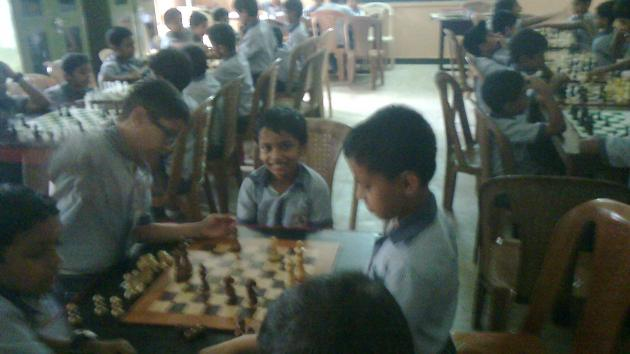CHESS IN URUSELINE SCHOOL PARIYARAM- KANNUR-KERALA.