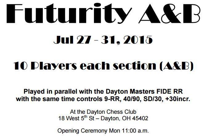 UPDATE ! FIDE FUTURITY  July 27-31st
