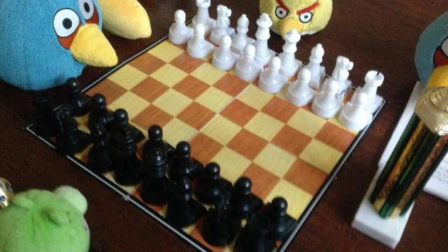 The First International Angry Birds Chess Tournament