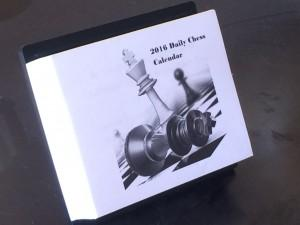 2016 Tactics Time Chess Calendar