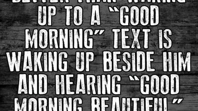 Waking up next...