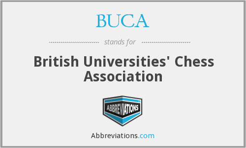 BUCA - British University Chess Championships - Championship Section