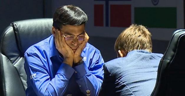 Anand - Carlsen - 2014 Campeonato Mundial - Round 3