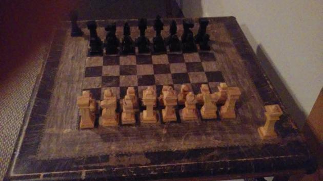 I made a band saw chess set!