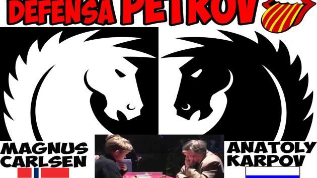 Magnus CARLSEN vs Anatoly KARPOV (2007) Defensa PETROV