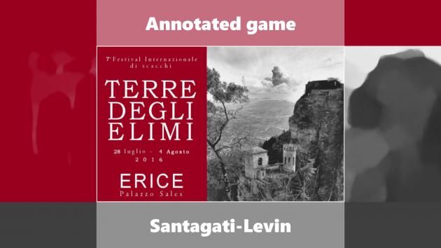 Annotated game - Sicilian Alapin: FM Santagati - GM Levin