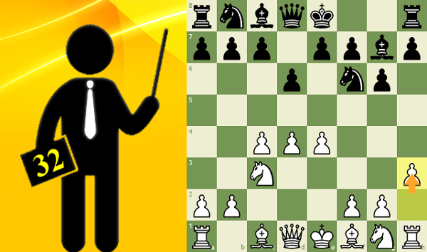 Standard chess game #32 - King's Indian Defense, Makagonov