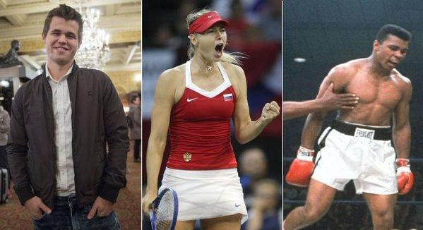 Ali, Sharapova and Carlsen What do they have in common?
