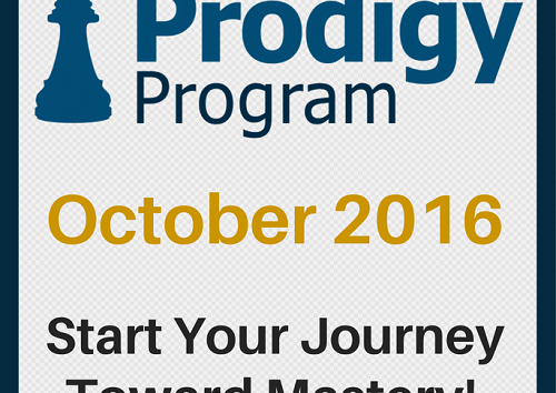 October 2016 Prodigy Program Registration Open!