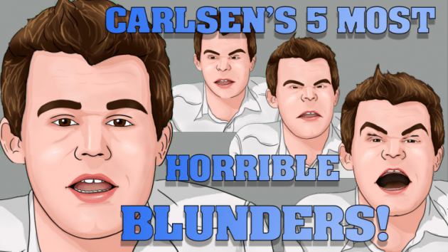 Carlsen's 5 most horrible chess blunders!