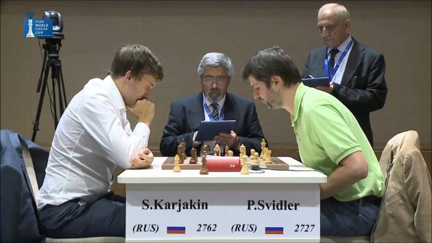 SVIDLER Vs KARJAKIN - Blitz Game Tiebreaks Final CHESS World Cup
