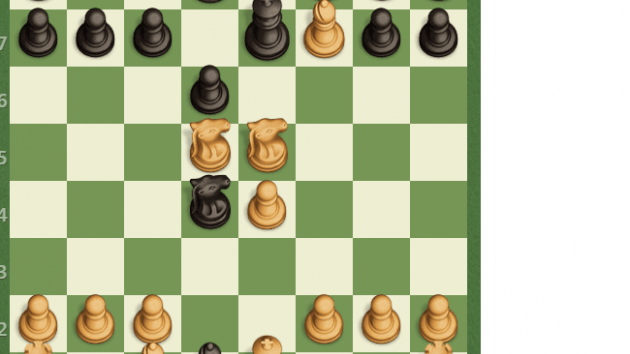 8 move mate with Queen sacrifize