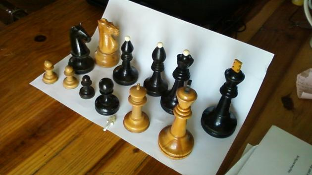 The origin of the Staunton chess design.