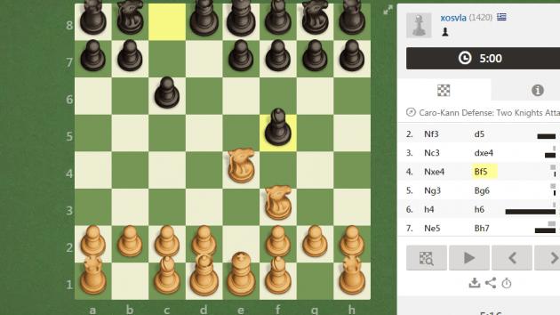 caro can defense 2 knight attck 2