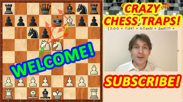 Welcome to crazy chess traps and tricks channel! Subscribe!