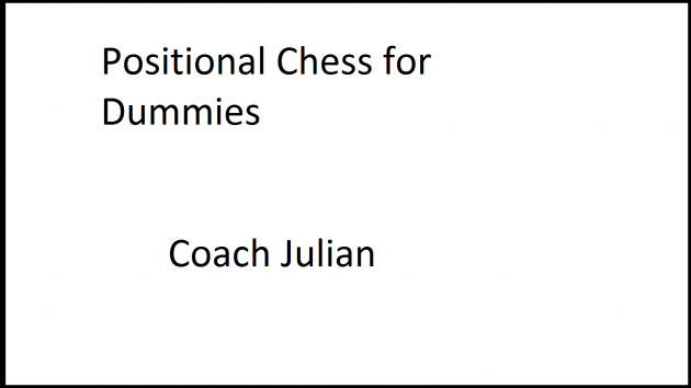 Lessons in Positional Chess (1.22.17) A tricky one