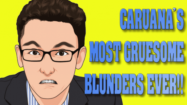 Caruana's most gruesome blunders EVER!