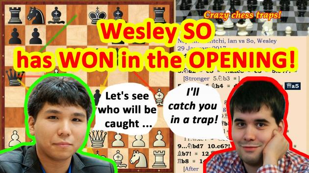 The trap or the blunder?! Wesley So won in the chess opening!