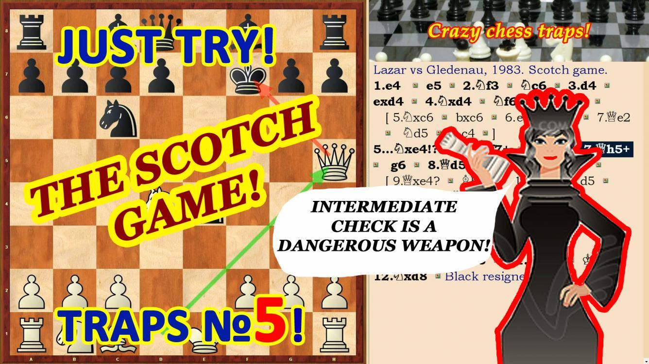 Chess traps with the intermediate checks!