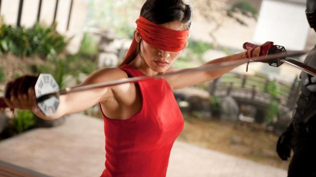 A blindfold game win.