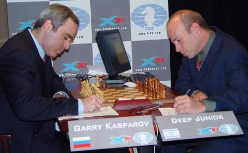 Каспаров против компьтера - интересная партия!