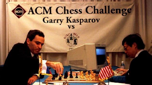 Каспаров - Компьютер. Смотрите и наслаждайтесь!