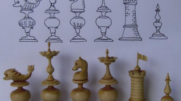 An unusual 18th c chess set design