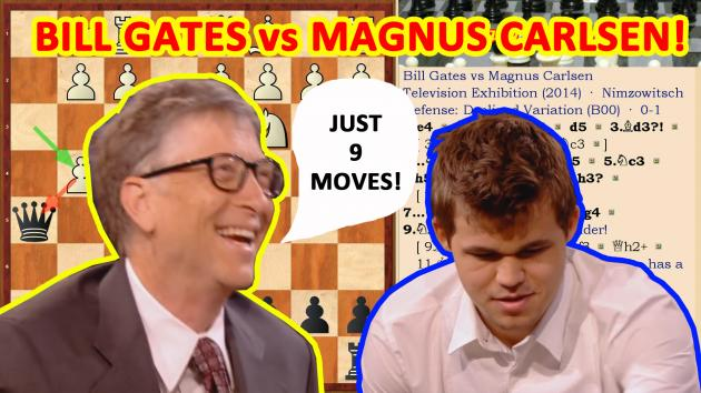 Hysterical chess game: Bill Gates vs Magnus Carlsen!