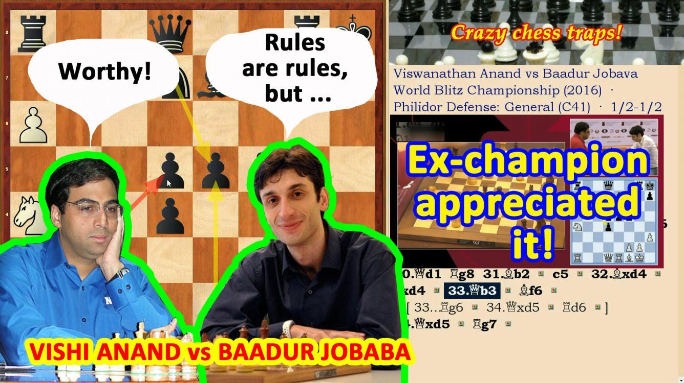 Chess: Vishy Anand appreciated the nobility of Baadur Jobava!