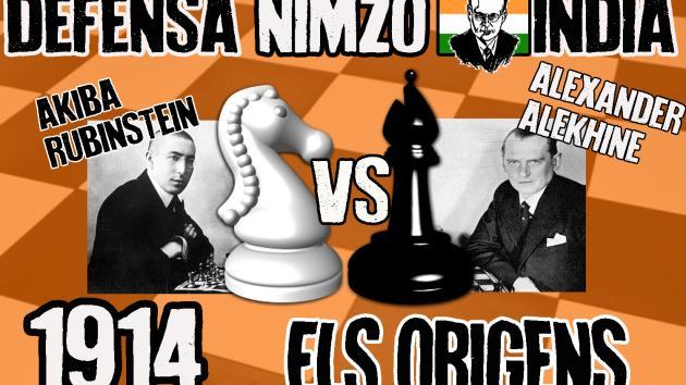Akiba Rubinstein vs Alexander Alekhine (1914) Els orígens de la defensa Nimzo-India