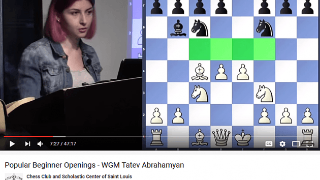 Lady Grandmaster Tatev Abrahamyan substitute teaches Brilliant Beginnner Breakdown