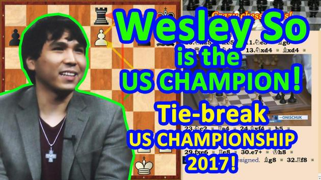 Wesley So is the US Champion 2017! The Tie-break! Playoff!