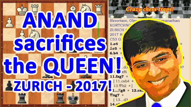 Anand sacrifices a Queen!