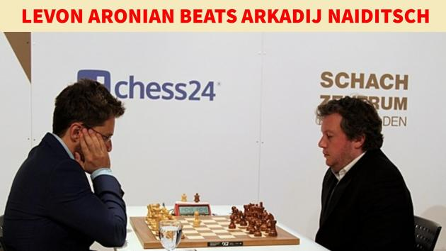 Levon Aronian leading Grenke chess classic after beating Arkadij Naiditsch