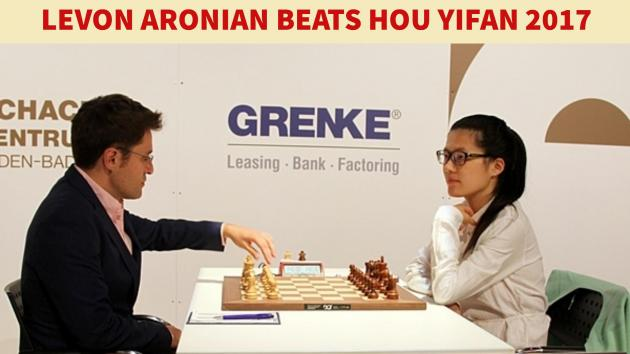 Levon Aronian beats Hou Yifan and wins Grenke Chess Classic 2017 with a round to go