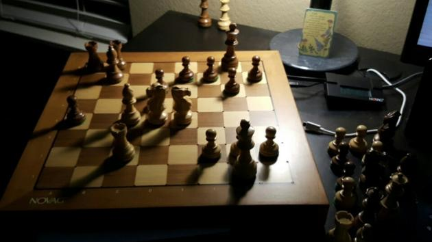 A Game against a old chess engine. Played out on my Novag citrine.