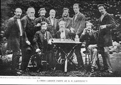 The Gastineau Garden Party 1873. A Chess Photograph.
