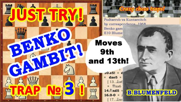 Chess White sacrificed the Queen in the opening Benko gambit!