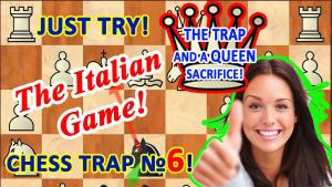 Chess trap for black and Queen's sacrifice in the opening Italian game!'s Thumbnail