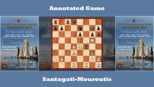 Annotated game : Santagati vs Mouroutis - Greek Team League (Aegean)
