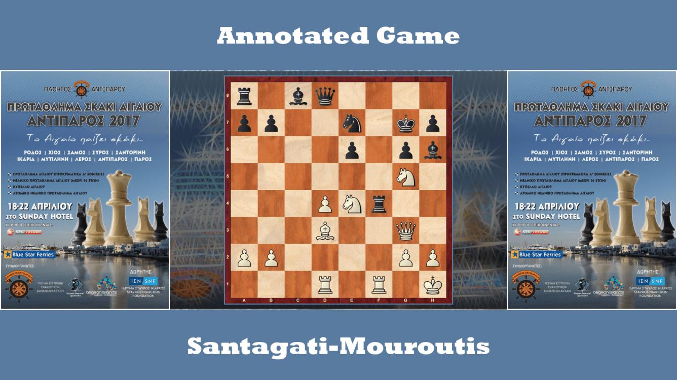 Annotated game : Santagati vs Mouroutis - Greek Team League (Aegean)