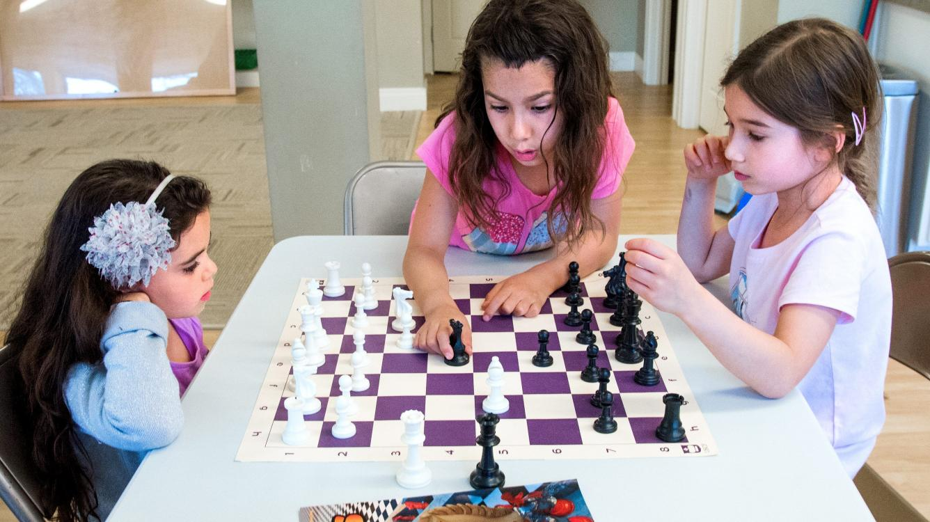 Youngsters using chess to give back