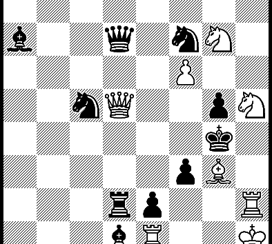 30, Mat in 2 moves from 40th World Chess Solving Championship – Belgrade 2016, World Champion: GM Kacper Piorun, Poland (ELO FIDE 2631)
