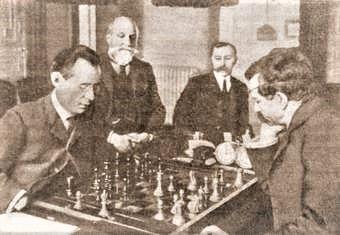 The First Lasker - Janowsky Match. 1909.