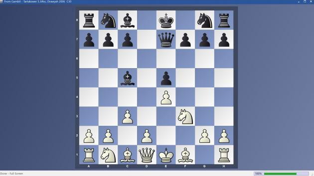 From Gambit - 5..Misc Tartakower Variation