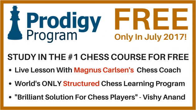 July 2017 Prodigy Program FREE In July with Magnus Carlsen's Coach Peter Heine Nielsen!