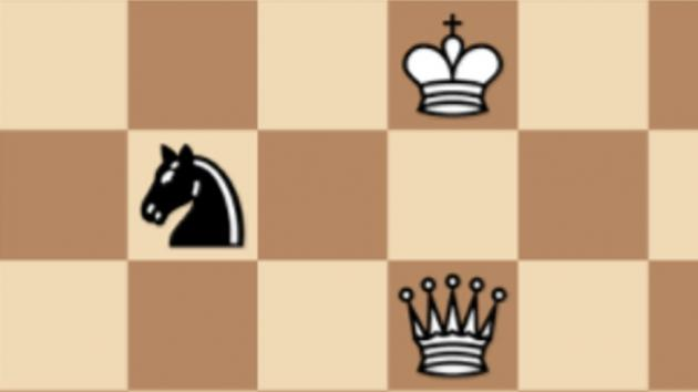 Stumbling into Checkmate with a Knight Fork